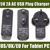 Wholesale V A AC USB Plug Charger suit for Android Tablet PC Smart Phone MP3 MP4 Ebook CDQ