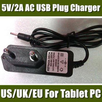 Wholesale Charger for tablet V A DC mm EU US UK Plug Converter Charger Power Supply Adapter for Allwinner A23 A13 Q88 San Sanei N10 CDQ