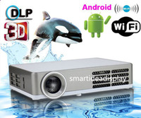 Wholesale 2014 Mini DLP Digital D Android Portable Projector convert D to D x resolution Full HD Home Cinema p