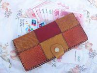 Wholesale carteira feminina Ladies Women Wallets Genuine Leather Purses Long Wallet Elegant Female patchwork Women s Wallets Woman Wallet Purse MNC014
