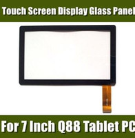 Wholesale Brand New Touch Screen Display Glass Digitizer Panel Replacement For Inch Q88 A13 Tablet PC MID Repair Parts PJ