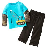 Cheap Jumping Beans Retail 1pcs Boy's Suits Long Sleeve Pajamas Set Children's Clothing Sets T-shirts Trouses Tops Kids Tshirts M1769