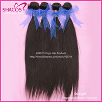 Wholesale queens hair products Unprocessed virgin indian hair natural color human hair weave shacos hair