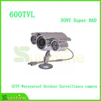 Cheap SONY Super HAD CCD 600TVL CCTV Waterproof Outdoor Surveillance camera Day Night Vision with High Resolution Free Shipping