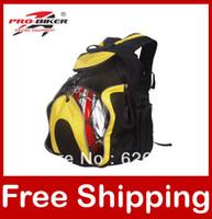 Wholesale Motorcycle Helmet bag Waterproof High capacity Backpack Pro biker G012 black yellow Free Drop Shipping