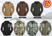 Wholesale new arrival Waterproof Hoody Windbreaker Jacket Soft Shell outdoor wear with Camouflage turban