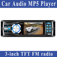 MP4/MP5 Players Yes Black Freeshipping Car Audio MP5 Player 3-inch TFT display support FM radio USB SD MMC card Remote Control with 2 way video output