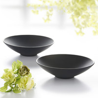 Cheap Fashion porcelain instant noodles bowl black scrub plastic tableware ramen soup bowl