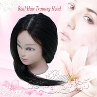 Wholesale Neverland Brown Blowout CM Real Human Hairdressing Training Head Mannequin Head