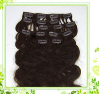 Wholesale 7colors stock cheap curly hair extensions Grade AAA20inch set g Clips in n remy Human Hair Extensions full head
