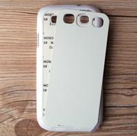 Cubierta del teléfono celular de la sublimación del caso de la impresión de DIY para el caso de la galaxia S3 i9300 de Samsung Libere / la gota que envía 5TO