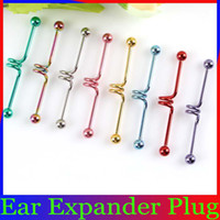 Wholesale Ear Plug Surgical Steel Body Piercing Jewelry Industrial Barbell Multicolor