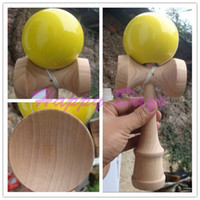 Wholesale CM Professional Jumbo Kendama Toy Japanese Traditional Wood Game Kids Toy PU Paint amp Beech