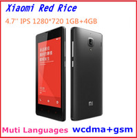 Xiaomi 4.7 Android Original XIAOMI Red Rice Hongmi 4.7'' IPS Quad Core Mobile Phone MTK6589T 1.5GHZ 1GB RAM 4GB ROM GSM WCDMA 3G OTG Dual SIM Multi Language