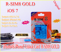 Wholesale Gevey gold R SIM R SIM8 r sim GPP Dual sim unlock for iOS iOS7 iphone iphone s SUPPORT G G RSIM SIM8