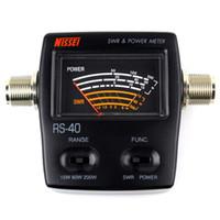 Wholesale Brand New Black NISSEI MHz W MJ MJ Connector RS SWR amp Power Meter J2027A