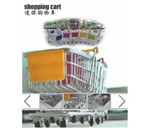 Wholesale shopping cart Special offer creative mini multi function supermarket trolley cart model metal for children to receive the trumpet