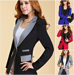 Wholesale Fashion OL Womens Long Sleeve Slim Fit Short Casual Suit Jacket Blazer Coat Hot