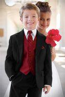 Wholesale hot sale Black Boy s Formal Occasion Children Wedding Suit Boys Attire Boy Suit Tuxedo