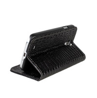 For Samsung Leather Red Wallet Credit Card Slot Crocodile Grain Genuine Leather Case for Samsung Galaxy S4 i9500 SIV Mobile Phone Flip Stand Cover Pouch Holster