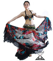 Cheap New Tribal Bohemia Long Skirt Swing Skirt Belly Dance Costumes
