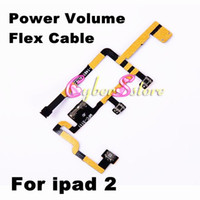 Wholesale Power On Off Switch Mute Volume Button Flex Cable for Apple iPad nd Gen CDMA Repair Replacement