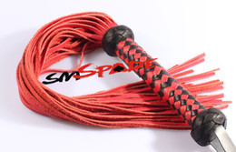 Wholesale Genuine leather bondage flogger whip adult sex whip for couples teasing cowhide flirting fun sexy leather whip sex toy