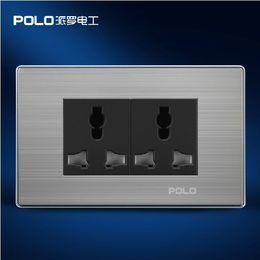 Wholesale luxury wall socket panel V hole Multifunction socket power electrical outlet plug