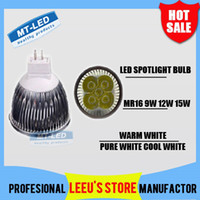 Wholesale X30 DHL High power CREE Led Lamp W W W Dimmable MR16 V Led spot Light Spotlight led bulb lights downlight lighting