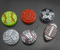 Wholesale 100PCS mm rhinestones mix sport ball basketball football soccer baseball softball volleyball slide charm fit for leather wristband