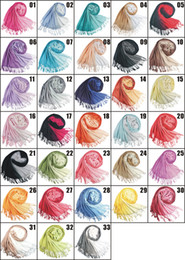 Wholesale Double color gradient Cashmere scarf pashmina scarves shawls Ponchos wraps silk scarf cm