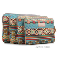 Wholesale Freeshipping Lisen Bohemian laptop sleeve quot inch computer bag shock proof scratch proof water proof