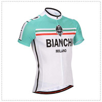 Wholesale Mix and Match Bianchi Bicycle Jersey Men s Road Bike Jersey Bianchi Men Cycling Shirt styles Optional