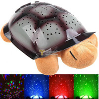 Wholesale Turtle LED Night Light Music Lights Mini Projector Colors Songs Star Lamp Xmas Gift Children Toys Educational Tortoise