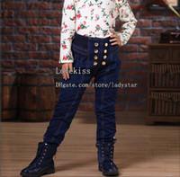 Wholesale Girls Jeans Denim Trouser Child Clothing Blue Jeans Kids Pants Fashion Jeans Long Trousers High Waist Jeans Kid Girl Clothes Children Jeans