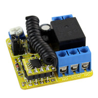 Wholesale RF Wireless Remote Control V Channels Relays Receiver Controller Coding Type DK1A MHz New F3015A3