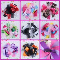 Barrettes Feather Floral Baby Feather Hair Clip Ostrich Hair Bow Princess Hairbow Kids Flower Clips Hairpin Hairgirps 10PCS LOT