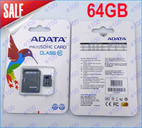Wholesale 64GB Micro SD Card ADATA TF Memory Card GB Flash Micro SD SDHC Cards Adapter Retail Package DHL
