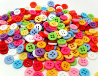 Quilt Accessories Buttons Beads 500pcs Mixed 4 Holes Colors Resin Buttons Fit Sewing or Scrapbooking 9mm