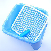 Wholesale Pet Square Plastic Toiletries Dog Grid Toilet with Center Pillar CH004