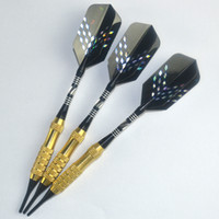 Wholesale 3PCS Set g Soft Tip Brass Barrels Darts Set With Aluminum Shaft And Laser Flights From Dart Accessories Supplies