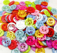 Wholesale Mixed Transparent Flower Holes Resin Round Buttons Fit Sewing Or Scrapbooking mm Knopf Bouton
