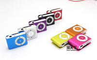 Wholesale 8 colors Mini Clip Mp3 player with earphones usb cables retail box support Micro SD TF card GB Sport Mp3 Metal mp3