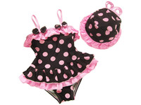 baby beachwear kids swimwear girl bikini child swimsuit with...