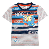 Boy Summer Standard Nova New 2014 Children Clothing Boy's Cotton Tshirts Baby Boy Hoot and Giggle Short Sleeves Casual T shirts Free Shipping C4730