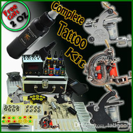 Wholesale Complete Tattoo Kits Guns Machines Colors Bottles Inks Sets Pieces Disposable Needles Power Supply Beginner D63DH USA Dispatch