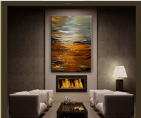 Unframed oil painting gallery - ABSTRACT PAINTING Large Landscape painting modern art original artwork Gallery