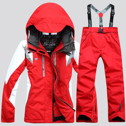 Wholesale DHL Day Arrive Skiing Women Pant And Jacket Suit Winter Waterproof Sport Snow Jacket Women Snowboard