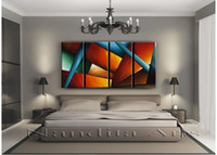 Wholesale Original LARGE OIL ABSTRACT PAINTINGS Contemporary modern fine art huge canvas F655