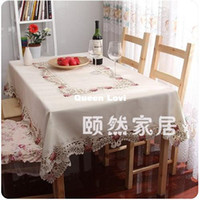 Wholesale Home fabric lace rustic fashion table cloth round table cover dining table mat